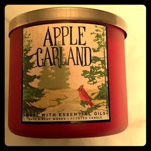 Apple Garland Candle